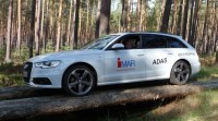 iMAR ADAS Testing Car at Testing Range in  Horstwalde / Germany (during Audi Test Session)